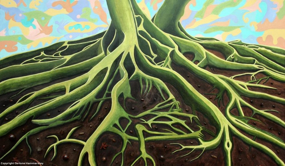 GREEN ROOTS by Oenone Hammersley