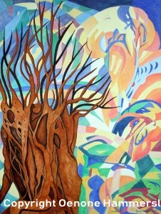 GNARLED TREE by Oenone Hammersley