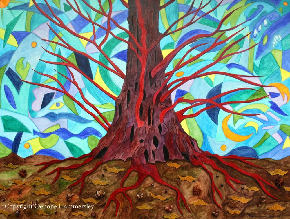 RED TREE by Oenone Hammersley